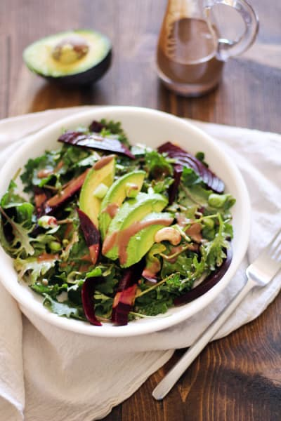 Roasted Beet & Avocado Salad Picture