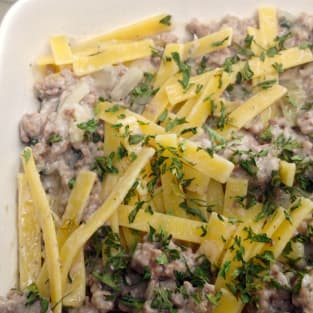 Ground beef stroganoff photo