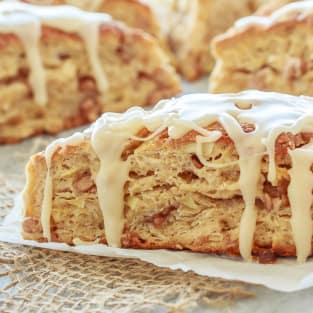 Apple cinnamon scones photo