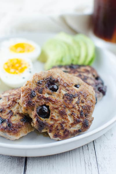 Paleo Maple Blueberry Turkey Breakfast Sausage Picture
