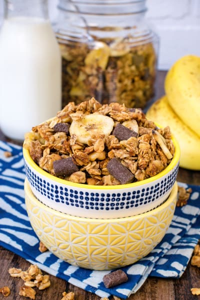 Peanut Butter Banana Chocolate Chunk Granola Picture