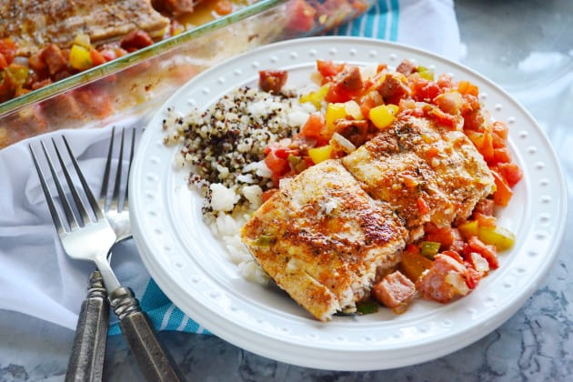 Baked Cajun Mahi-Mahi Dinner Photo