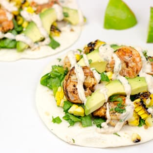 Southwest shrimp tacos photo