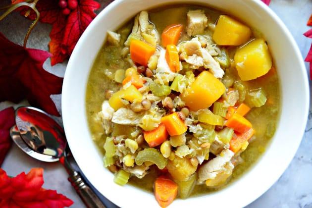 Turkey Butternut Squash and Lentil Soup Photo