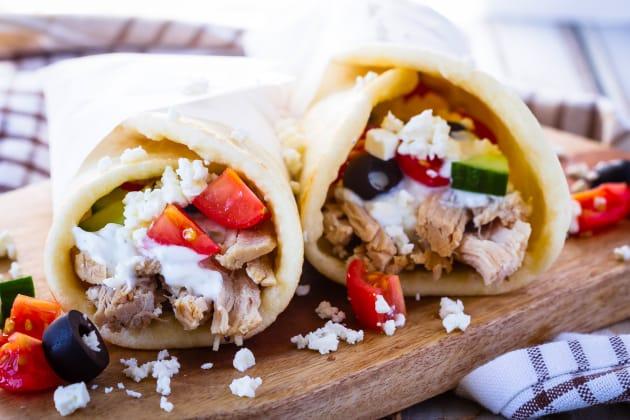 Instant Pot Greek Pork Wraps Pic