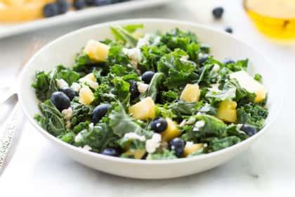 Kale Blueberry Pineapple Salad