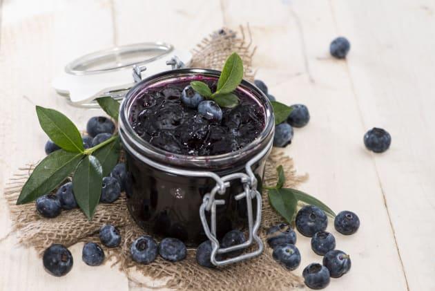Blueberry jam photo