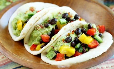 Guacamole Veggie Tacos Image