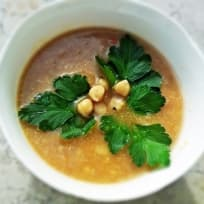 Chickpea soup with warming spices