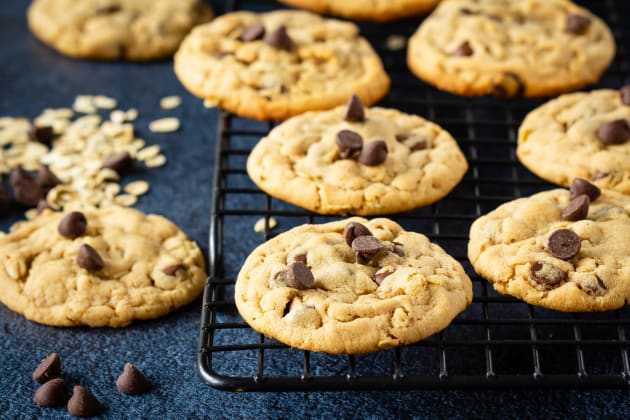 Chocolate Chip Oatmeal Peanut Butter Cookies Photo