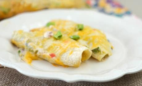 Gluten Free Cheesy Chicken Enchiladas Recipe