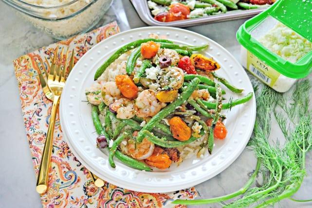 Sheet Pan Greek Shrimp Dinner