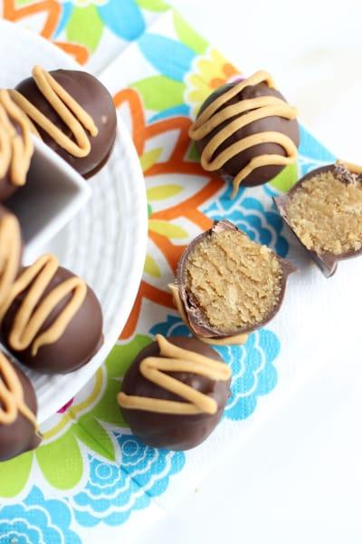 Chocolate Peanut Butter Cake Truffles Image