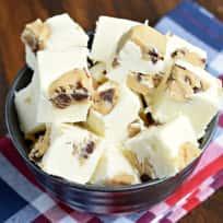 White Chocolate Cookie Dough Fudge Recipe
