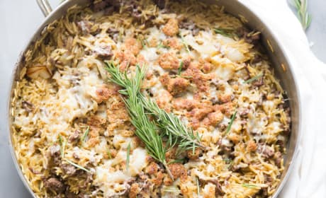 French Onion Skillet Beef Casserole Recipe