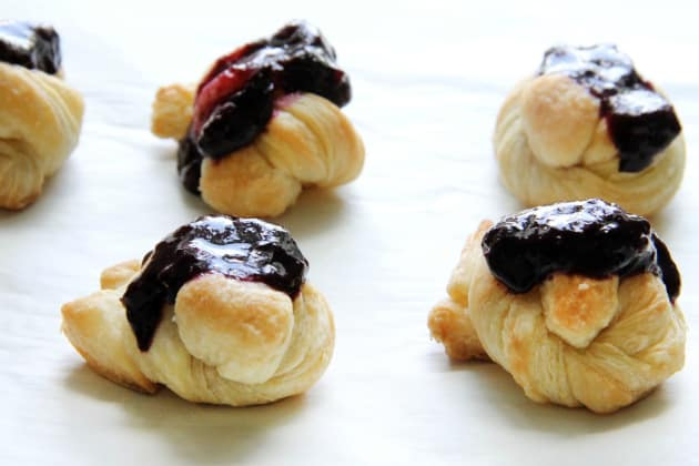 Easy Puff Pastry Blueberry Knots Photo