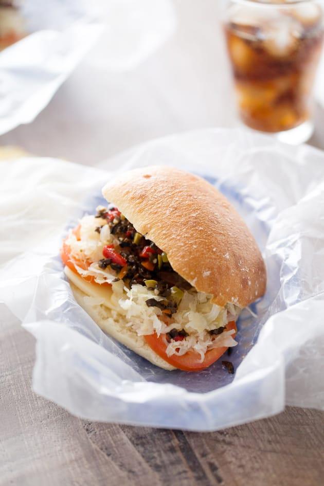 Vegetarian Reuben Sandwich Image