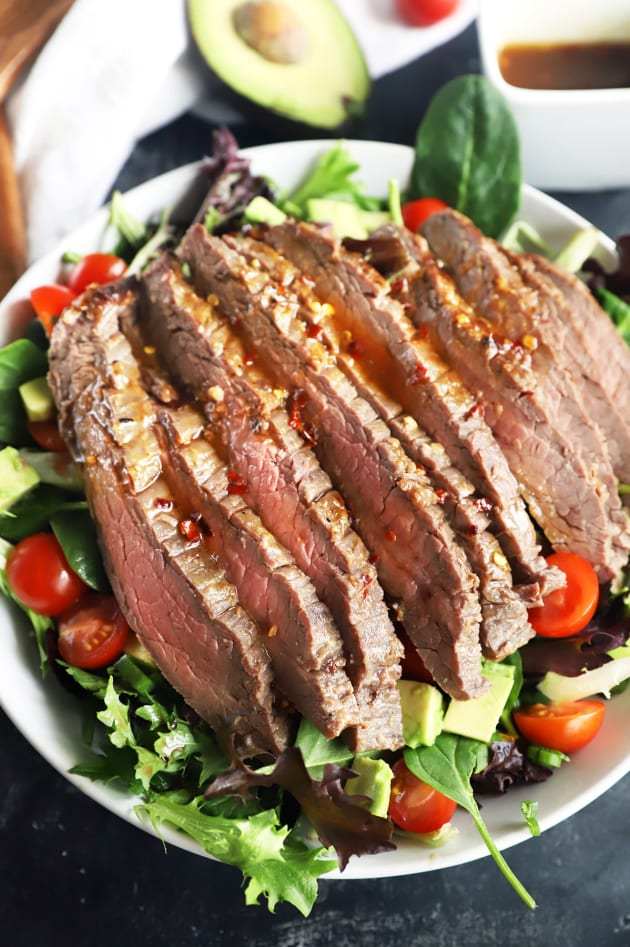 File 1 - Miso Marinated Steak Salad with Avocado