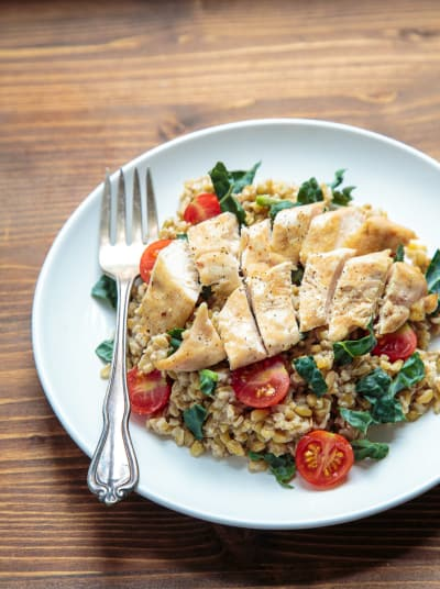 Freekeh Salad with Chicken Picture