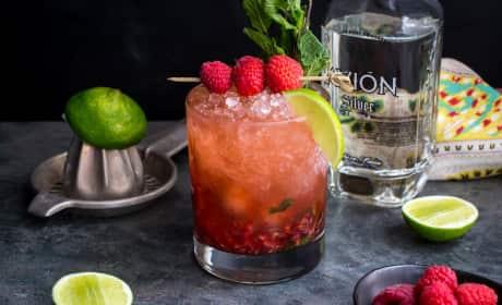 Raspberry Mint Tequila Smash Recipe