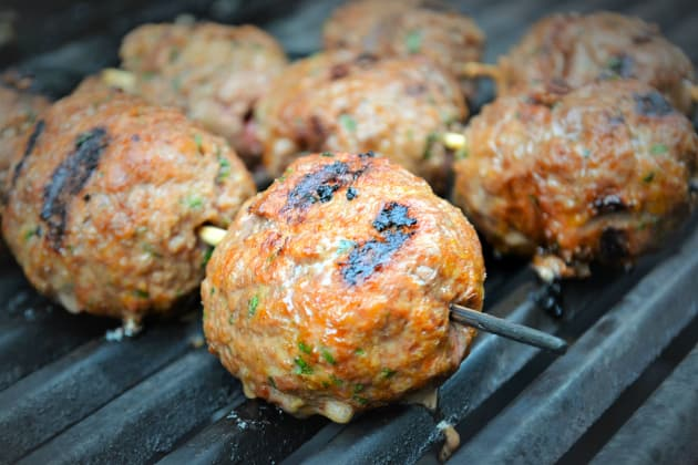 Easy Grilled Meatballs Image