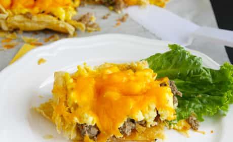 Sausage, Egg and Cheese Breakfast Tart Recipe