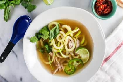 Thai Chicken Soup with Zucchini Noodles