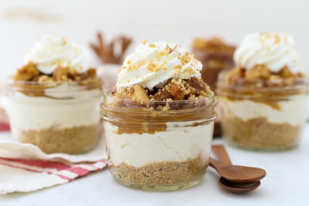 No Bake Mini Apple Pie Cheesecakes Photo