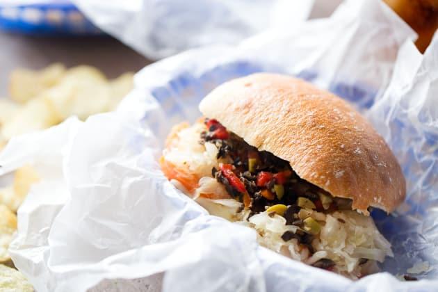 Vegetarian Reuben Sandwich Photo