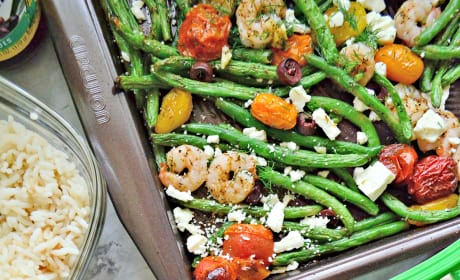 Sheet Pan Greek Shrimp Dinner Pic