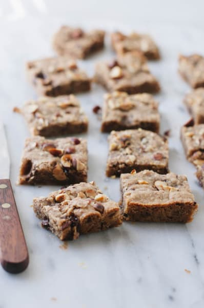 Vegan Hazelnut Blondies Picture