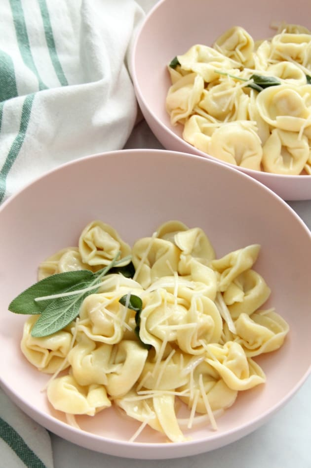 Tortellini with Butter and Sage Image