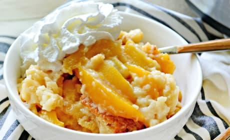 Slow Cooker Peach Cobbler Photo