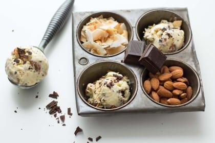 烤椰子冰淇淋