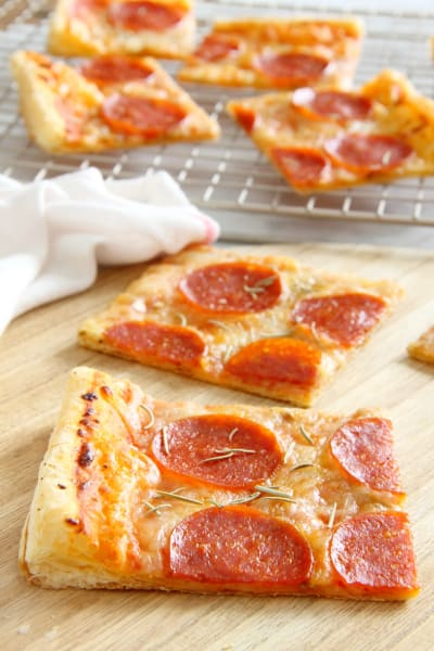 Puff Pastry Pepperoni Pizza Pic