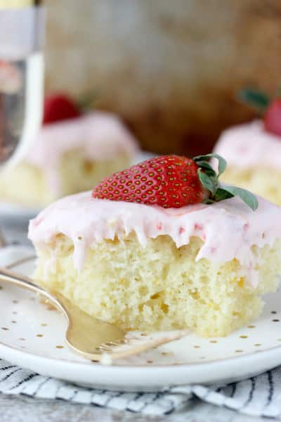 Strawberry Champagne Cake Image