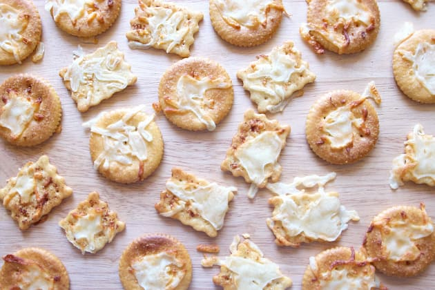 Melted Cheese Crackers Photo