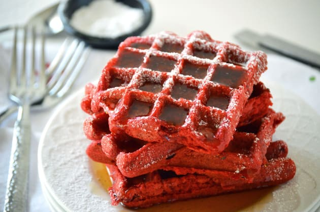 Red Velvet Waffles Photo