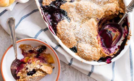 Oatmeal Cookie Blueberry Peach Cobbler Recipe