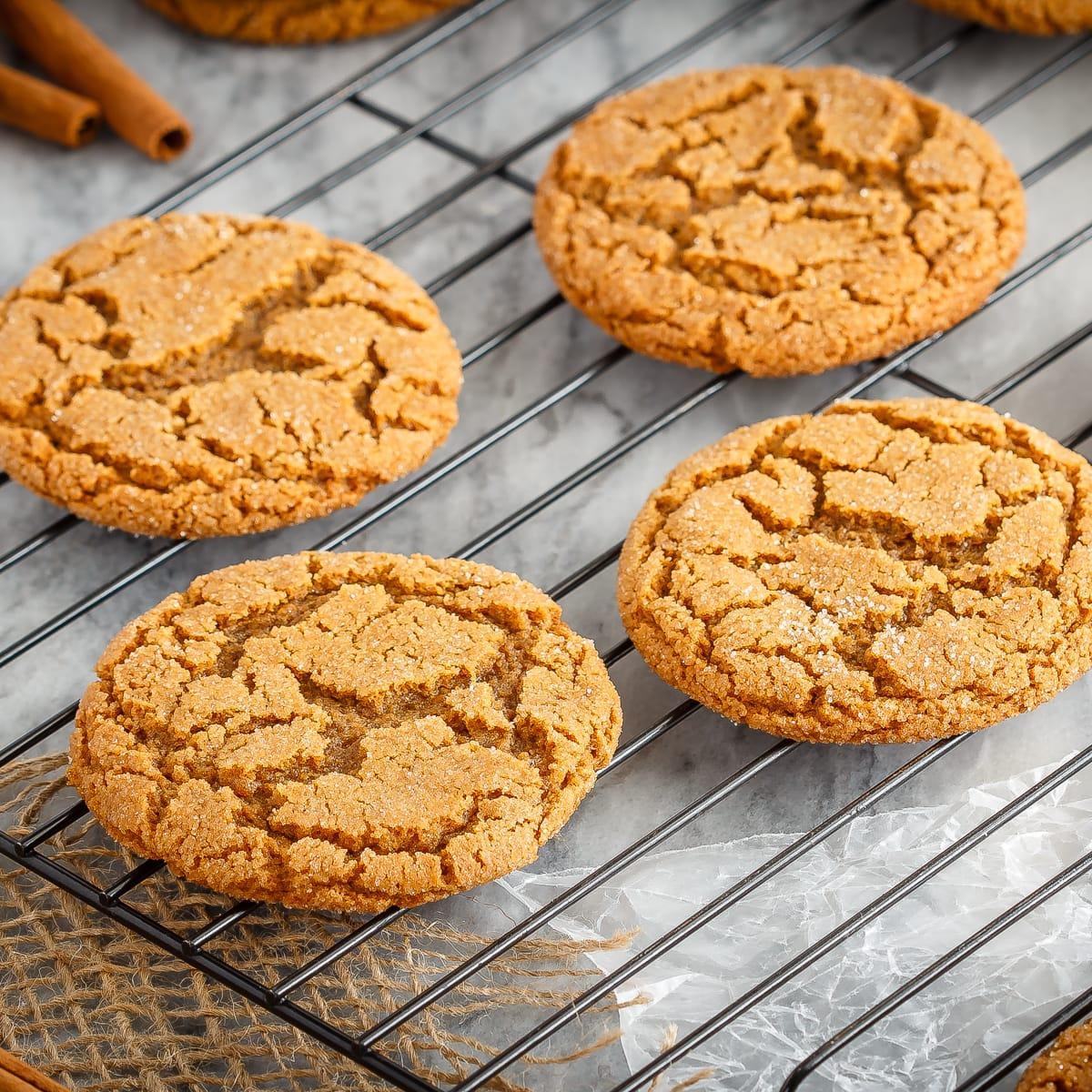 Soft And Chewy Ginger Cookies Bake Eat Repeat