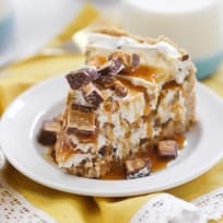 No Bake Peanut Butter Snickers Cheesecake Recipe