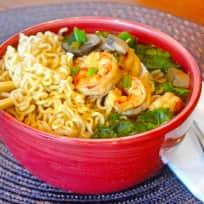 Miso Shrimp Soup with Ramen Recipe