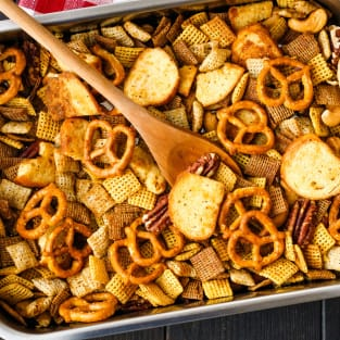 Toaster oven chex mix photo