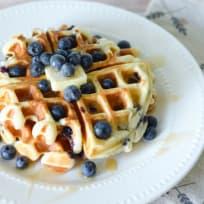 Gluten Free Blueberry Waffles Recipe