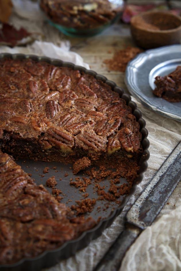 Paleo Chocolate Pecan Tart Image