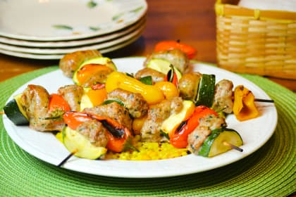 Oven Roasted Sausage Kabobs
