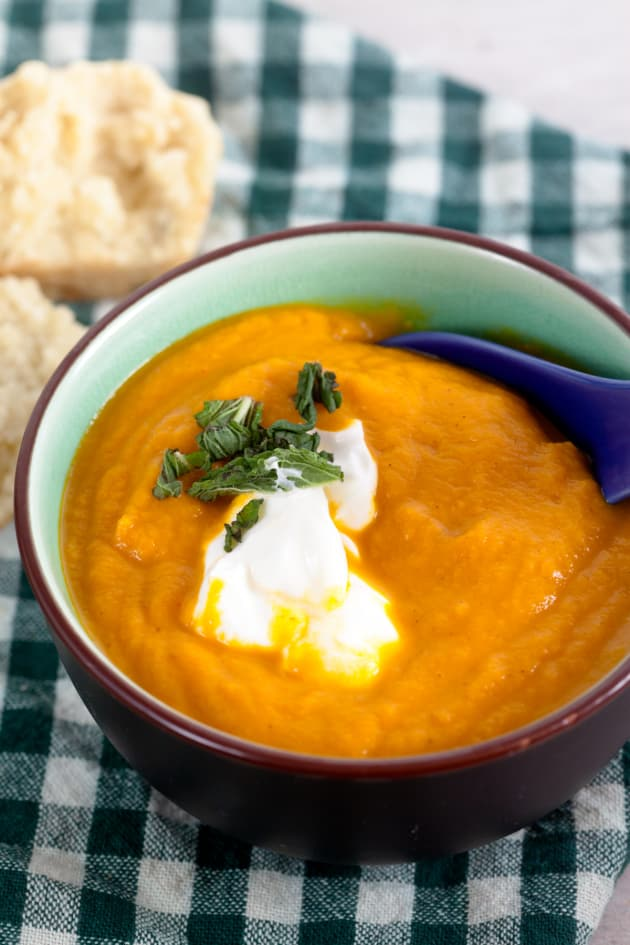 Roasted Carrot Ginger Soup Image