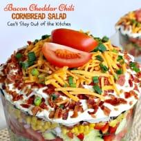 Bacon Cheddar Chili Cornbread Salad