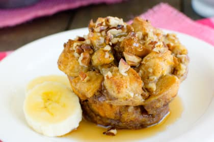 Banana Praline French Toast Muffins