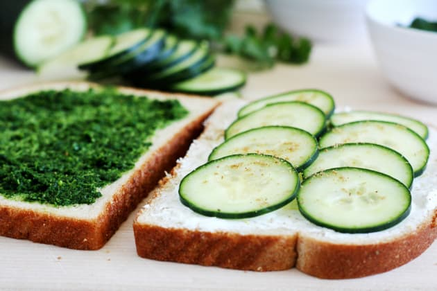 Cucumber and Mint Cilantro Chutney Tea Sandwiches Pic